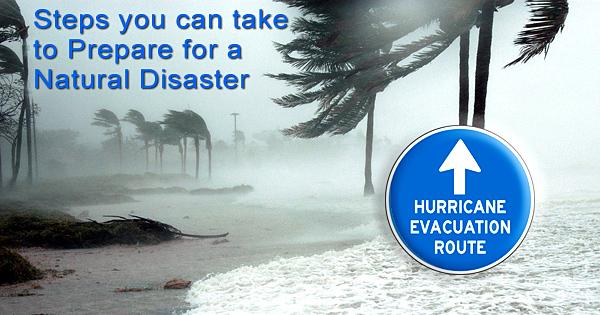 Disaster preparation advice